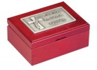 Deacon's Keepsake Box With Cross and Prayer