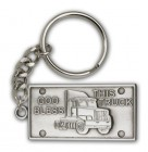 God Bless This Truck Keychain
