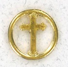 Round with Cross Cutout Lapel Pin (12 per order)