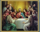 Last Supper Gold Framed Print