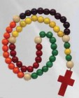 Childrens Wood Rosary - Multicolor