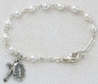 Baby Rosary Bracelet with Pearls