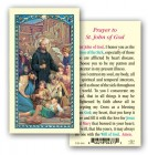 St. John of God Laminated Prayer Cards 25 Pack