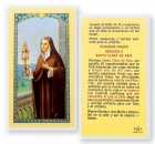 Oracion A Santa Clara De Asis Laminated Spanish Prayer Cards 25 Pack