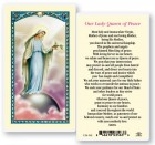 Our Lady Queen of Peace Laminated Prayer Cards 25 Pack