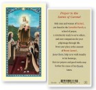 Prayers to the Saints of Carmel Laminated Prayer Cards 25 Pack
