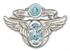 Our Lady of the Highway & St Michael Visor Clip
