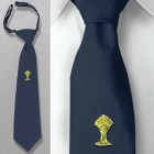 Boys Gold Chalice Navy Blue First Communion Tie