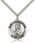 Men's Be My Guide St. Christopher Necklace