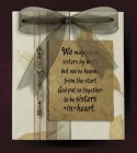 We May Not Be Sisters Wall Plaque