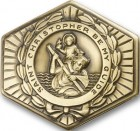 St. Christopher Hexagon Visor Clip