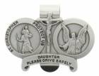 St. Christopher & Guardian Angel Protect My Daughter Visor Clip