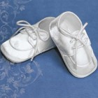 Boys Satin Oxford Christening Shoes