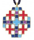 Multi-color Jerusalem Cross Pendant