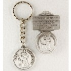 St. Christopher Matching Key Ring and Visor Clip Set