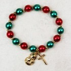 Red and Green Christmas Stretch Bracelet