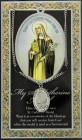 St. Catherine of Siena Medal in Pewter with Bi-Fold Prayer Card