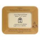 "First Communion Maple Wood ""Godson"" Photo Frame"