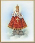 Infant of Prague Gold Framed Print