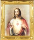 Sacred Heart of Jesus Gold Leaf Framed Print