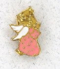 Praying Angel Pink Lapel Pin (12 pieces per order)
