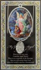 Guardian Angel Medal in Pewter with Bi-Fold Prayer Card [HPM008]