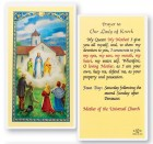 Our Lady of Knock Laminated Prayer Cards 25 Pack
