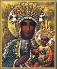 Our Lady of Czestochowa Gold Framed Print