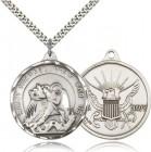 Men's Round St. Michael Navy Medal