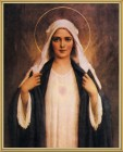 Immaculate Heart of Mary Gold Framed Print