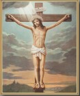 Crucifixion Gold Framed Print