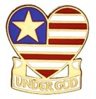 Under God Lapel Pin