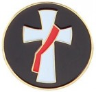Golf Ball Marker With Deacon's Cross Design