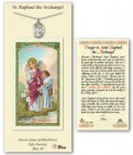St. Raphael the Archangel in Pewter with Prayer Card