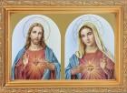 The Sacred Hearts Antique Gold Framed Print