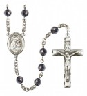 Men's St. Aloysius Gonzaga Silver Plated Rosary
