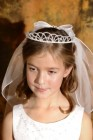 First Communion Crown with Veil and Pearls