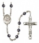Men's St. Lidwina of Schiedam Silver Plated Rosary