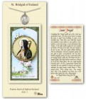 St. Brigid of Ireland Medal in Pewter with Prayer Card
