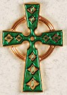 Celtic Cross Green Lapel Pin (12 per order)