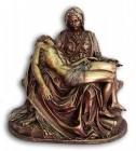 Pieta Statue in Bronzed Resin - 10.5 inches