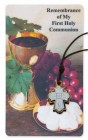 Remembrance First Communion 4-Way Medal Prayer Card