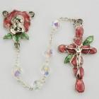 Rose Petal Enamel Rosary