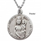 "Round Our Lady of Loretto Dime Size Medal + 18"" Chain"