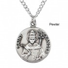 """Round St. Alexander Dime Size Medal + 18"""" Chain"""