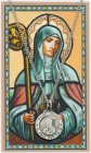 Round St. Brigid of Ireland Medal with Prayer Card