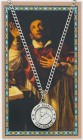 Round St. Charles Borromeo Medal with Prayer Card