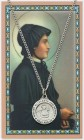 Round St. Elizabeth Ann Seton Medal with Prayer Card