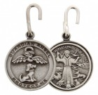 Round St. Francis with Dog Angel Pet Medal