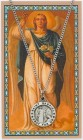 Round St. Gabriel The Archangel Medal with Prayer Card